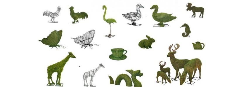 Sculptures végétales